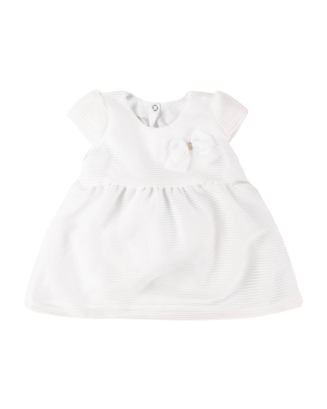 Vestido Bebê com Tapa Fralda Branco - Brandili