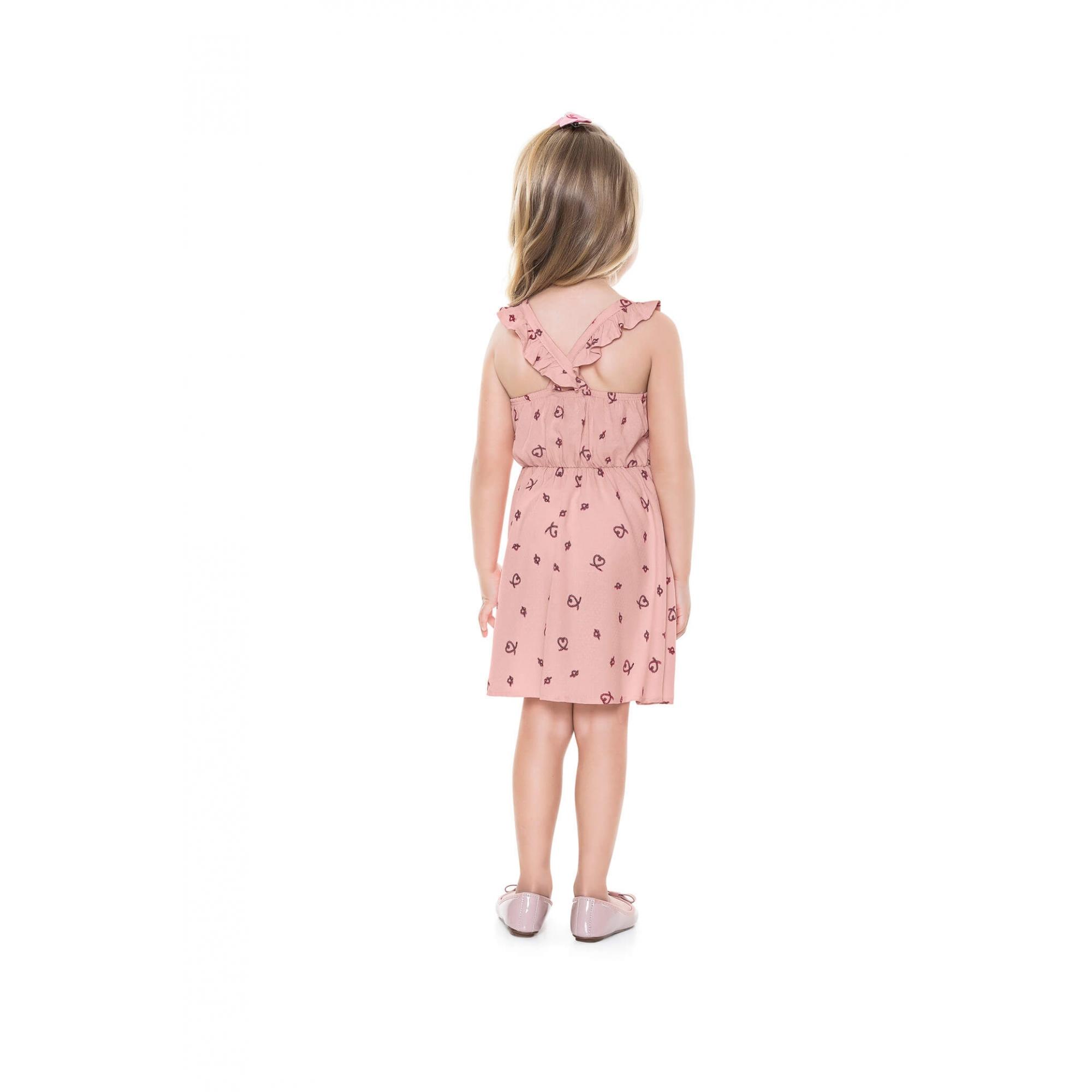 Vestido Infantil Corações - Playground