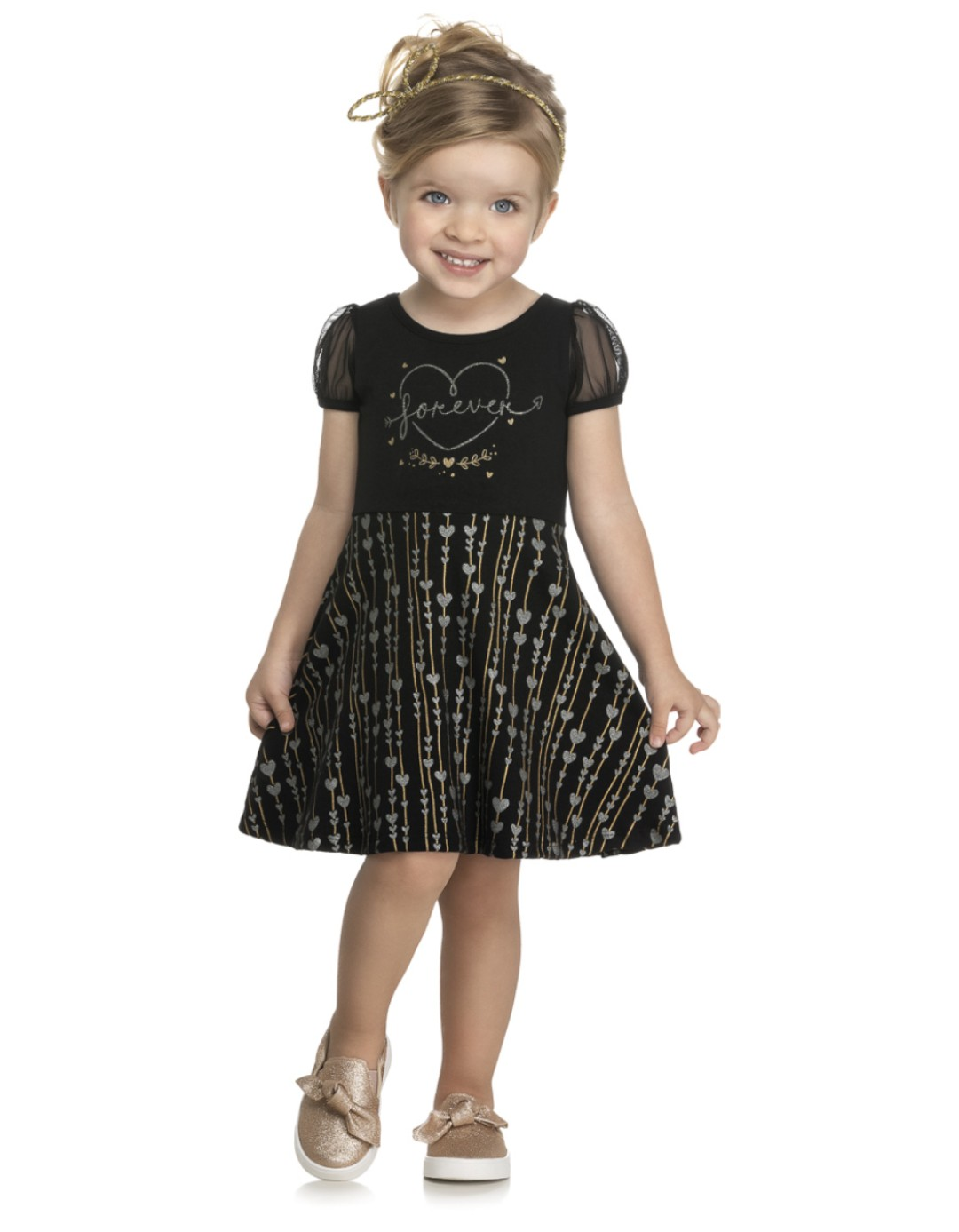 Vestido Infantil Forever - Kely & Kety