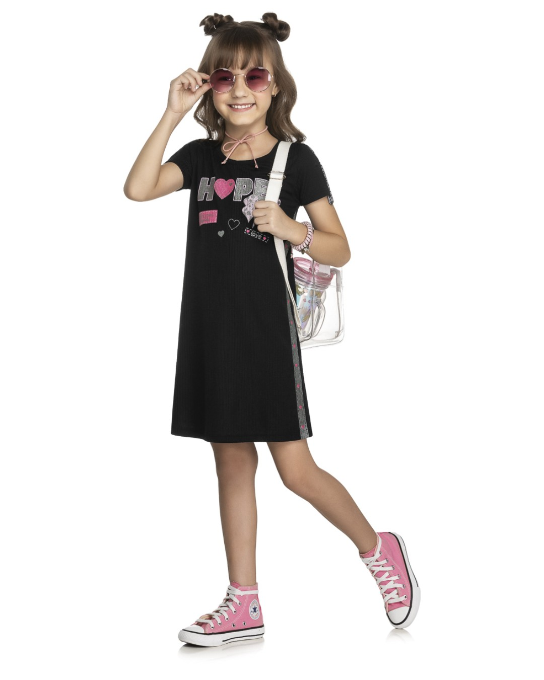 Vestido Infantil Hope Love - Kely & Kety