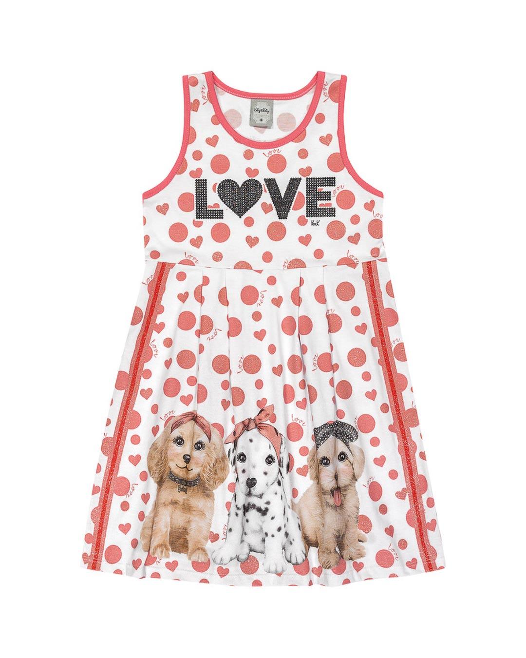 Vestido Infantil Love & Dog - Kely & Kety