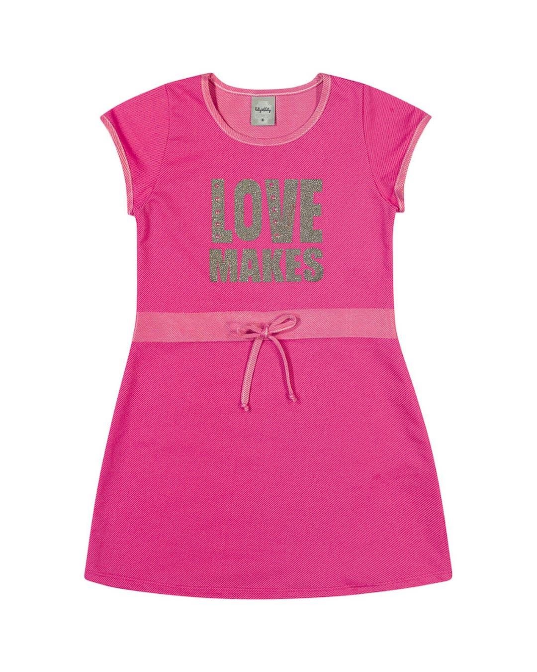 Vestido Infantil Love Makes - Kely & Kety