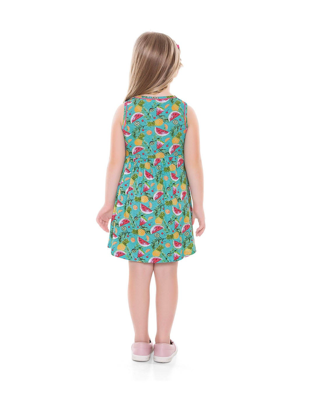 Vestido Infantil Melancias Verde - For Fun