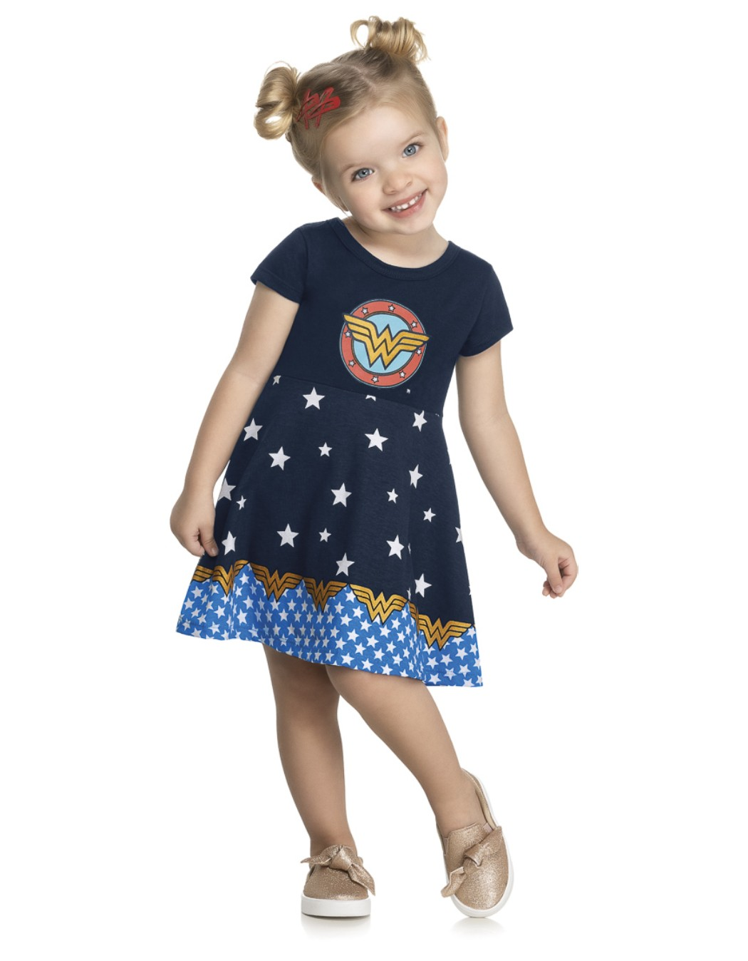 Vestido Infantil Mulher Maravilha - Kely & Kety