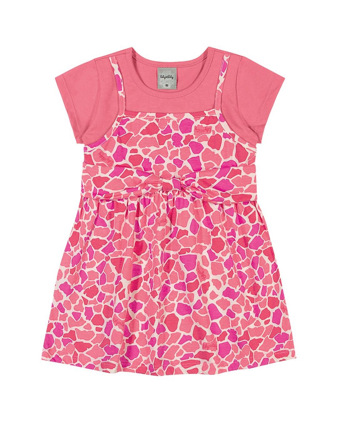 Vestido Infantil Oncinha - Kely & Kety