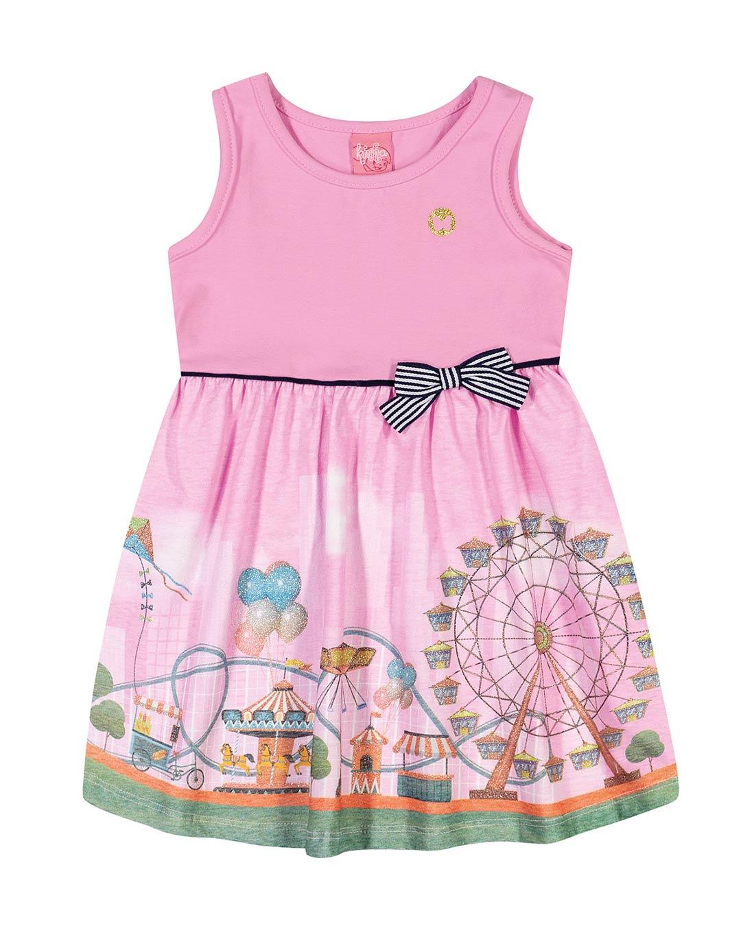 Vestido Infantil Parque de Diversões - Lecimar