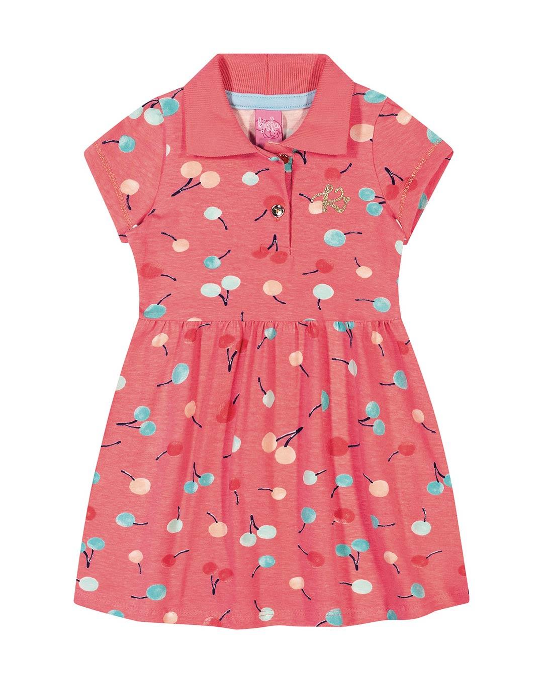 Vestido Infantil Polo Cerejas - Lecimar