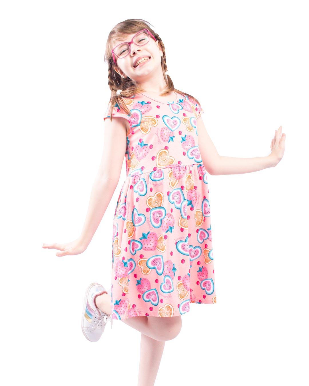Vestido Infanto-Juvenil  Estampa Variada - Alenice