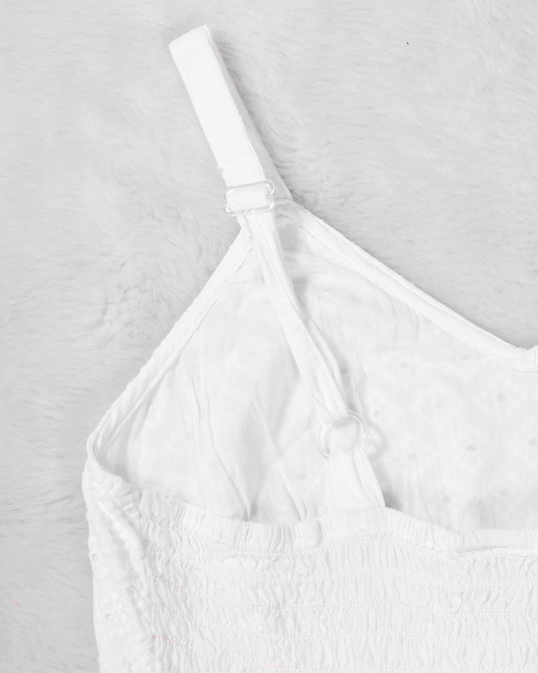 Vestido Longo Renda Branco - Jacksnipe