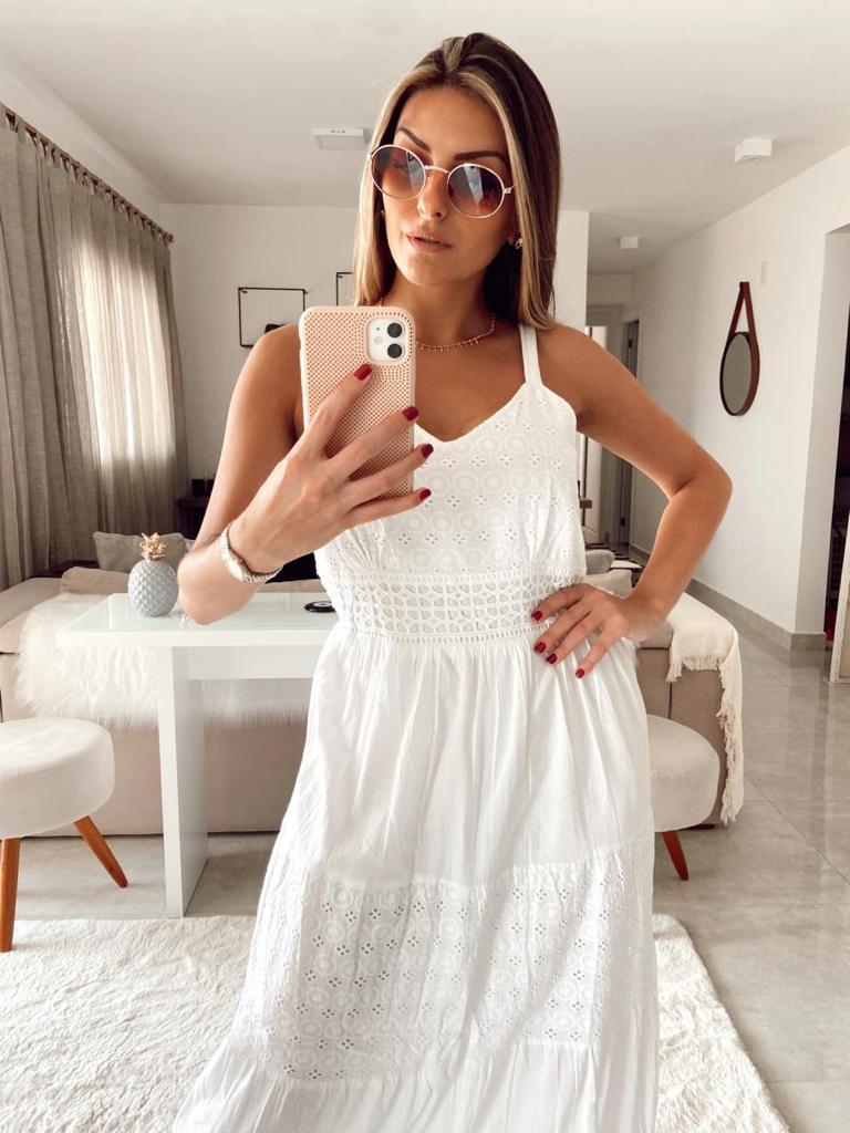 Vestido Longo Branco - Jacksnipe