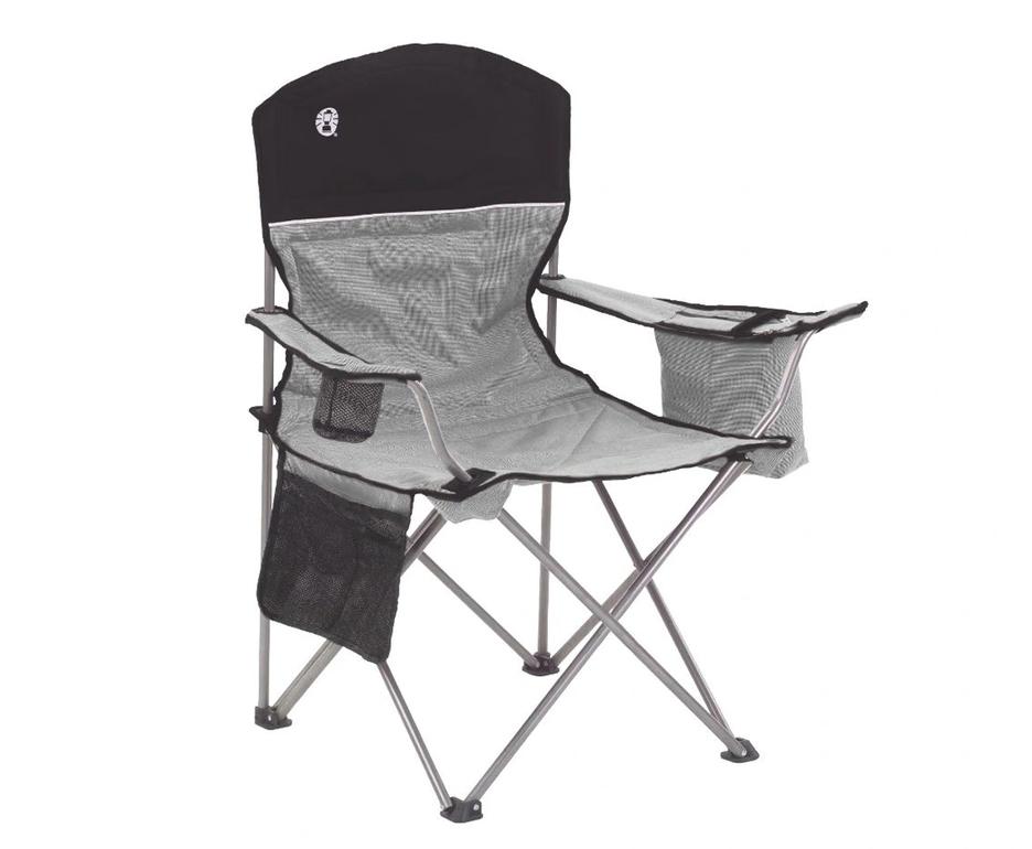 Cadeira Coleman Dobrável com Cooler Térmico e Porta Copo Cinza