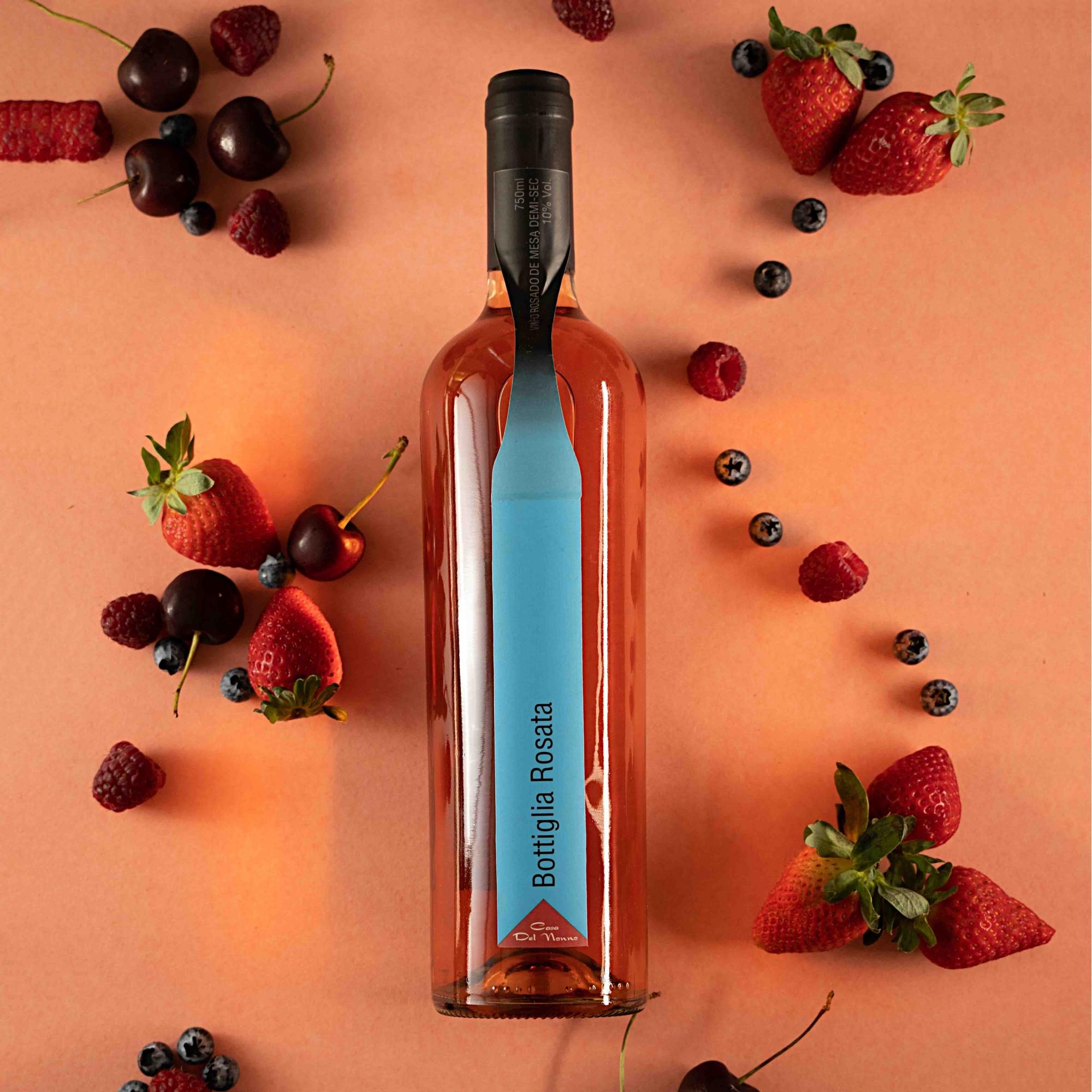 Vinho Rosé Bottiglia Rosata - Uva Goethe - Casa Del Nonno