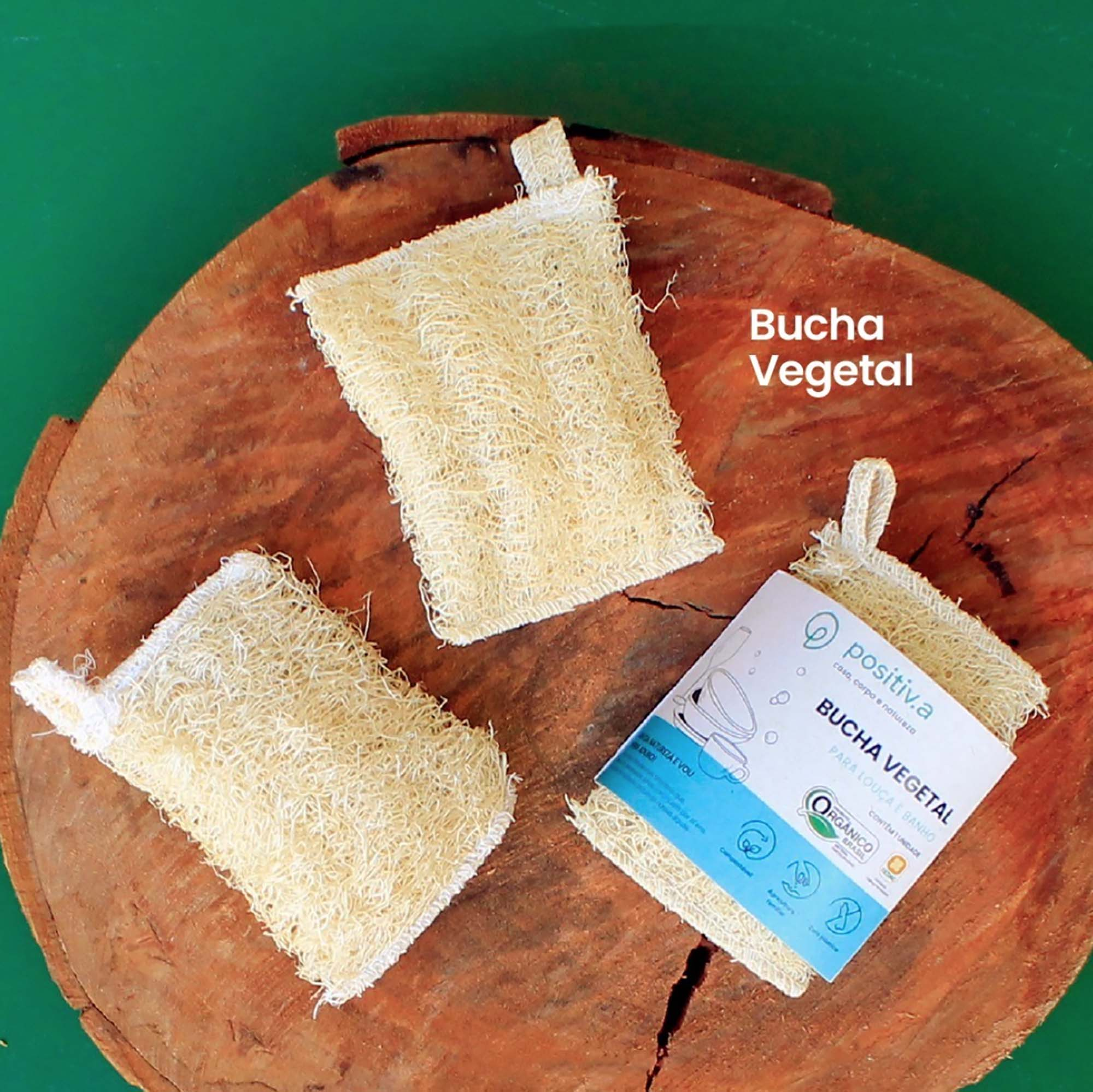 Bucha Vegetal Positiva - Esponja para louças ou banho