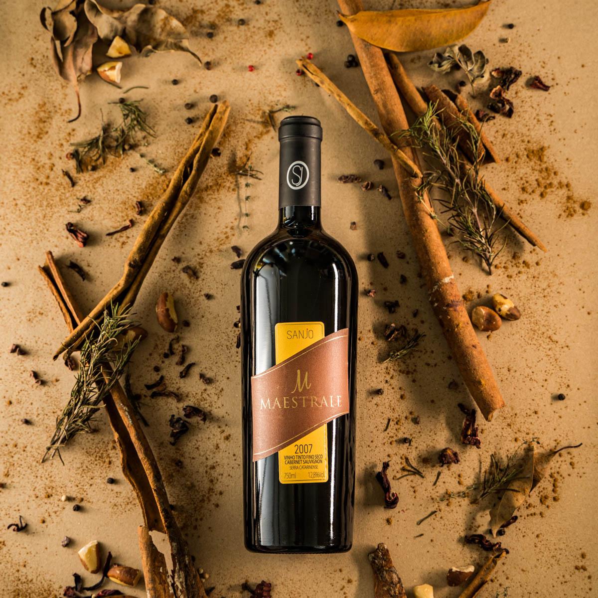 Vinho tinto Maestrale - Cabernet Sauvignon 2007 - Vinícola Sanjo