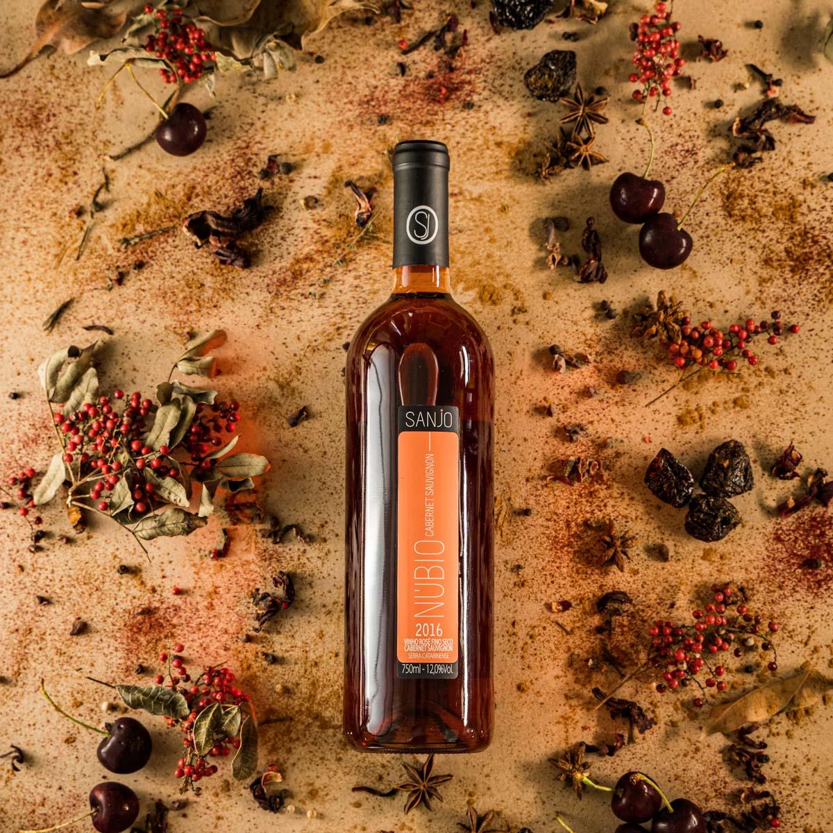 Vinho Rosé Núbio - Cabertnet Sauvignon - Vinícola Sanjo