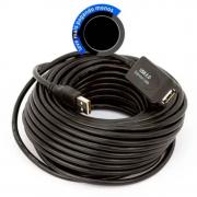 CABO EXTENSOR AMPLIFICADO USB 5 Metros USB 2.0