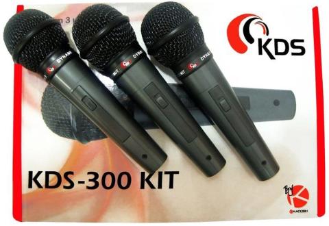 MICROFONE KADOSH KDS-300 KIT C/3 PCS
