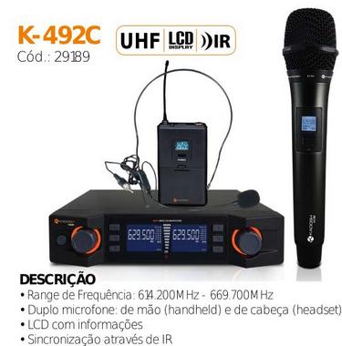MICROFONE S/FIO K-492C