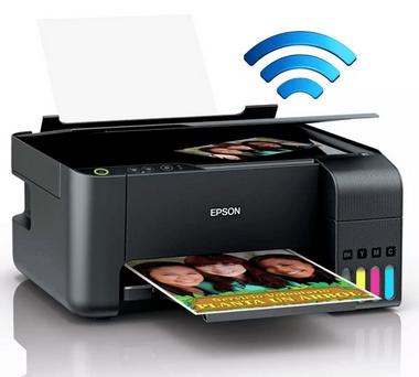 Multifuncional Epson Ecotank L3110 Tanque de Tinta Wireless Wi-Fi Direct USB 2.0 Bivolt