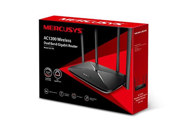 Roteador DualBand AC12GEU Mercusys AC1200