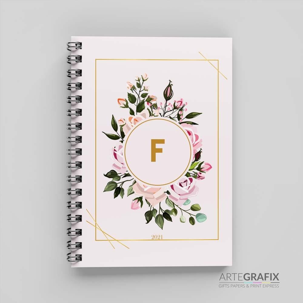Agenda Monograma Floral