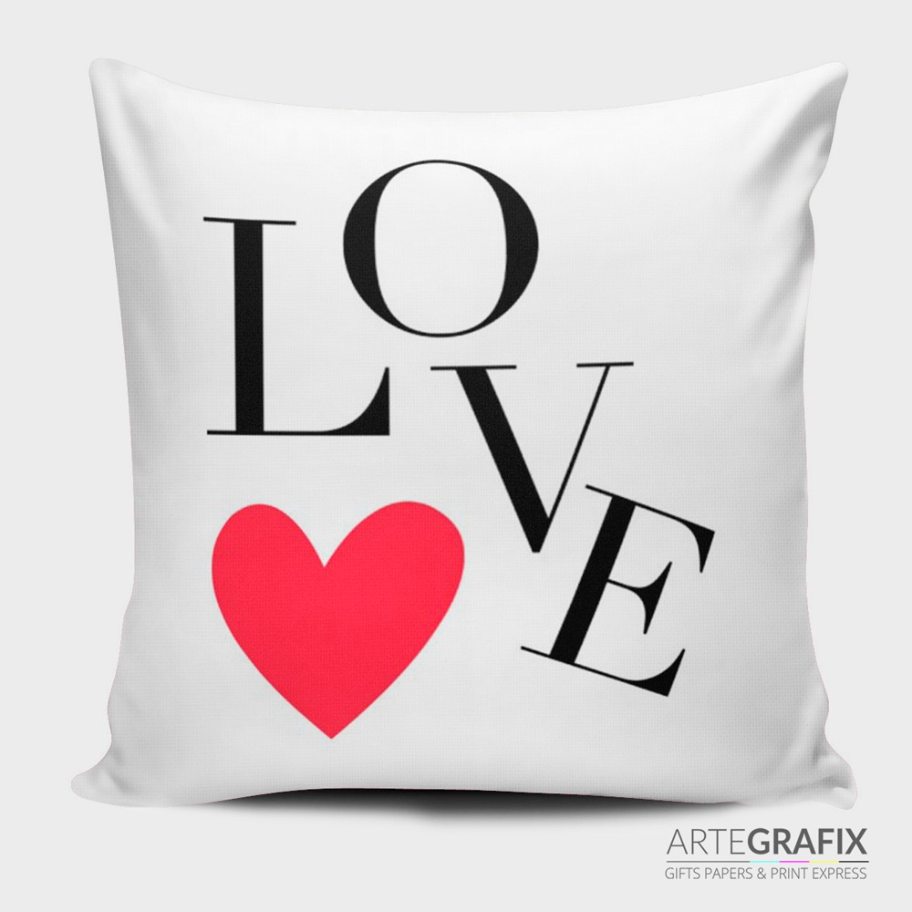 Almofada Lisa Personalizada arte Love,