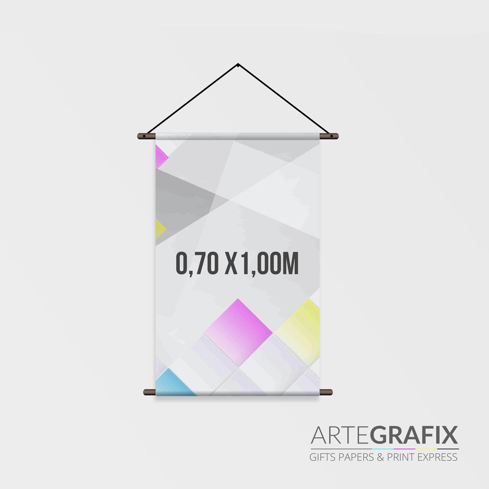 Banner em Lona Formato 0,70 x 1,00 m