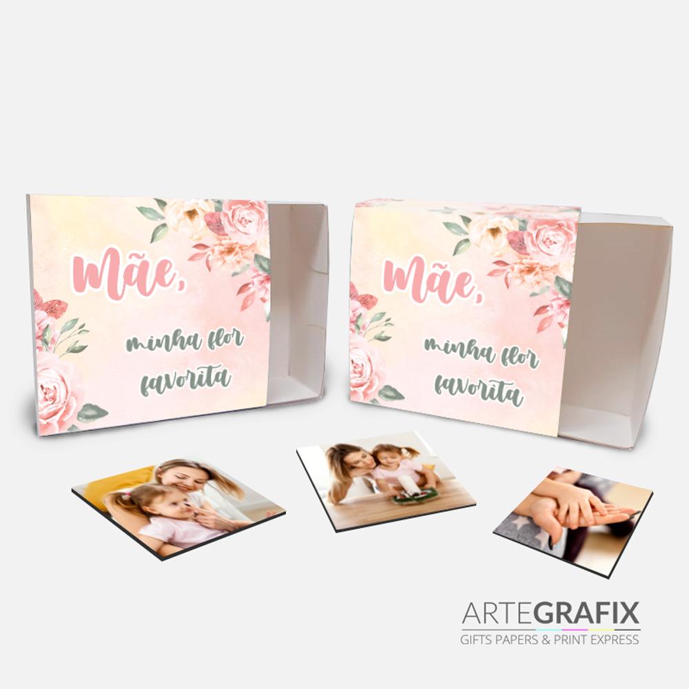 Caixa Foto Ímã - Dia das Mães