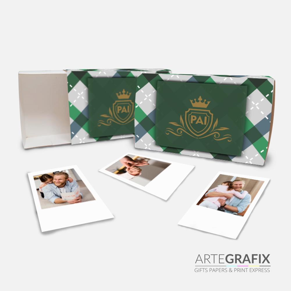 Caixa Foto Polaroid Pais
