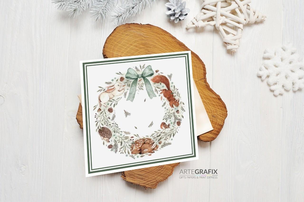 Cartão Social de Natal Esquilo