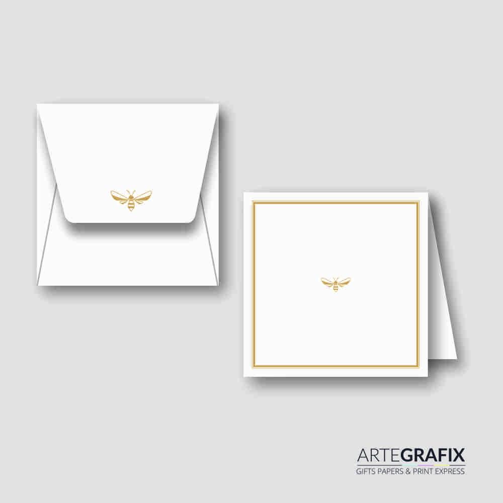 Cartão Social Dourado Abelhas