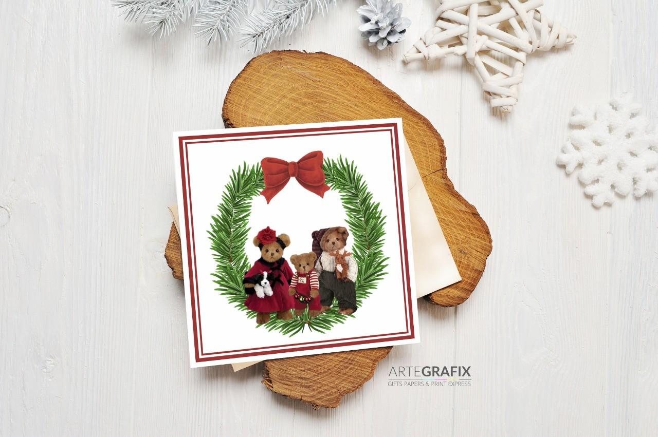 Cartão Social de Natal Família Urso - Filho