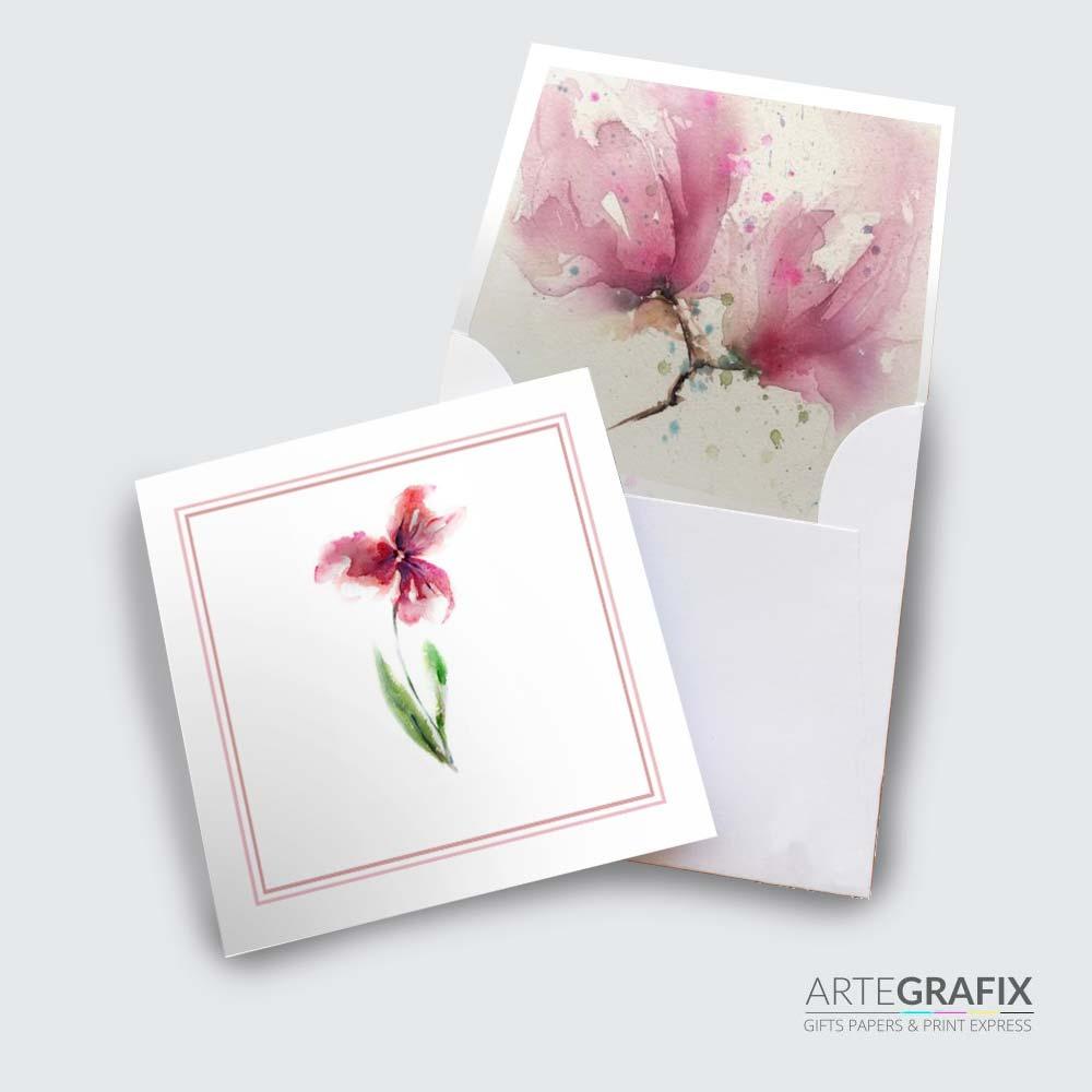 Cartão Social Flor