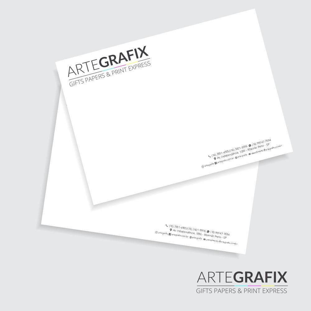 Envelope Saco Branco Tamanho A4 - 50 unidades
