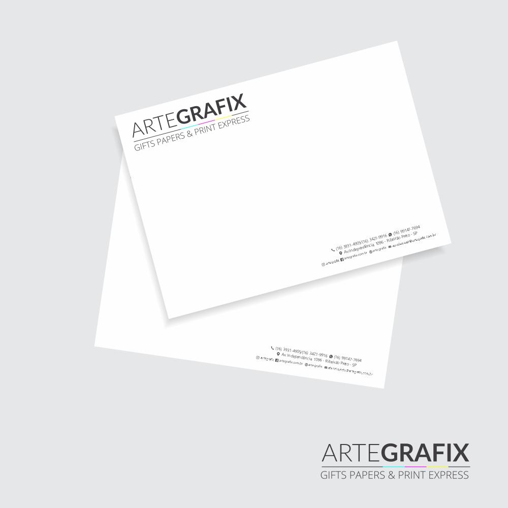 Envelope Saco Branco Tamanho A5 - 50 unidades