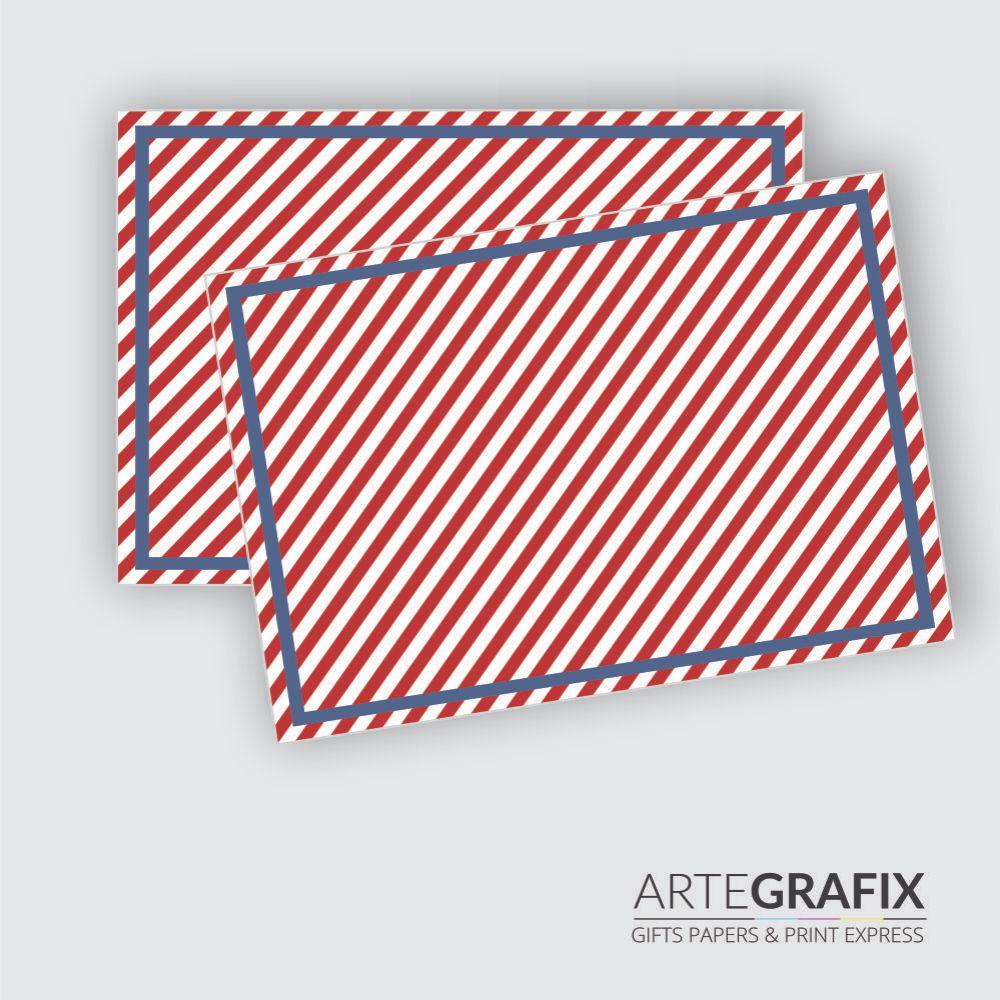 Jogo Americano Listras Vermelhas Diagonal