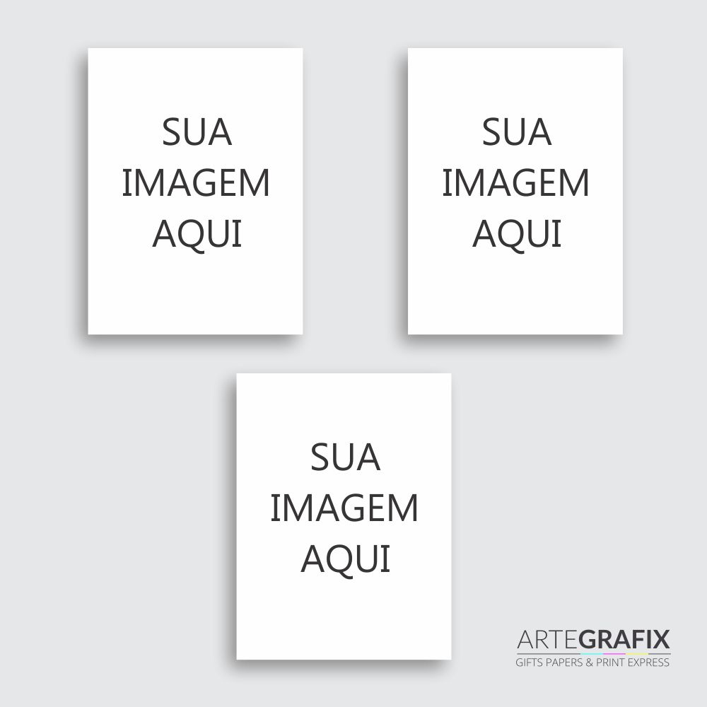 Kit de Impressões Fotográficas Papel Fosco 260 gr - Formato 40 x 70 cm