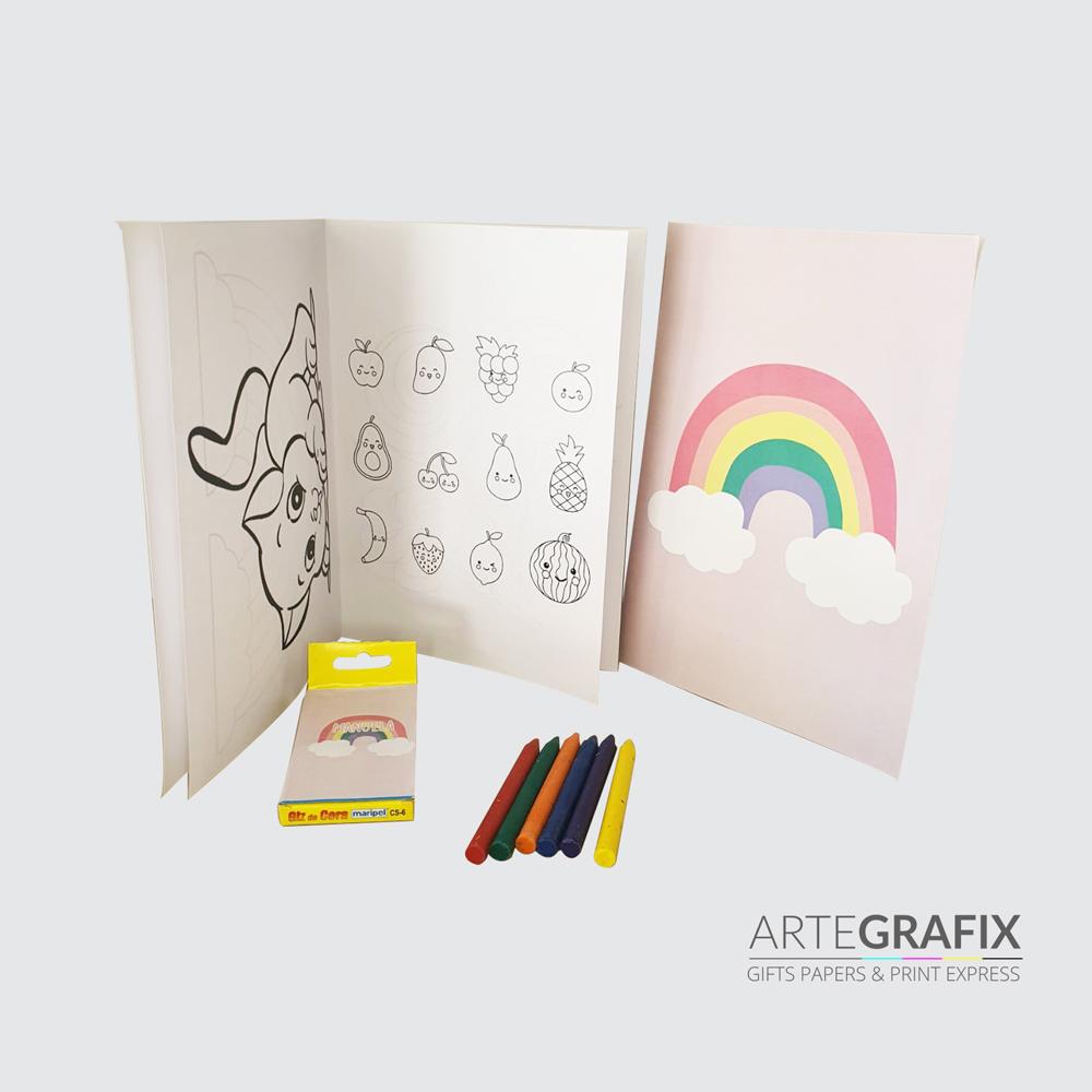 Kit Festa Caixa com kit colorir e quebra cabeça