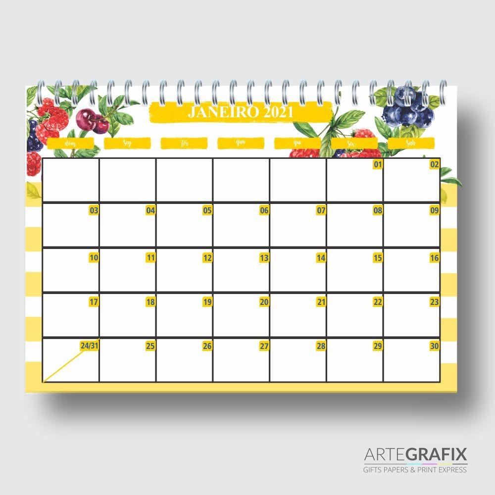 Planner Mensal Frutas
