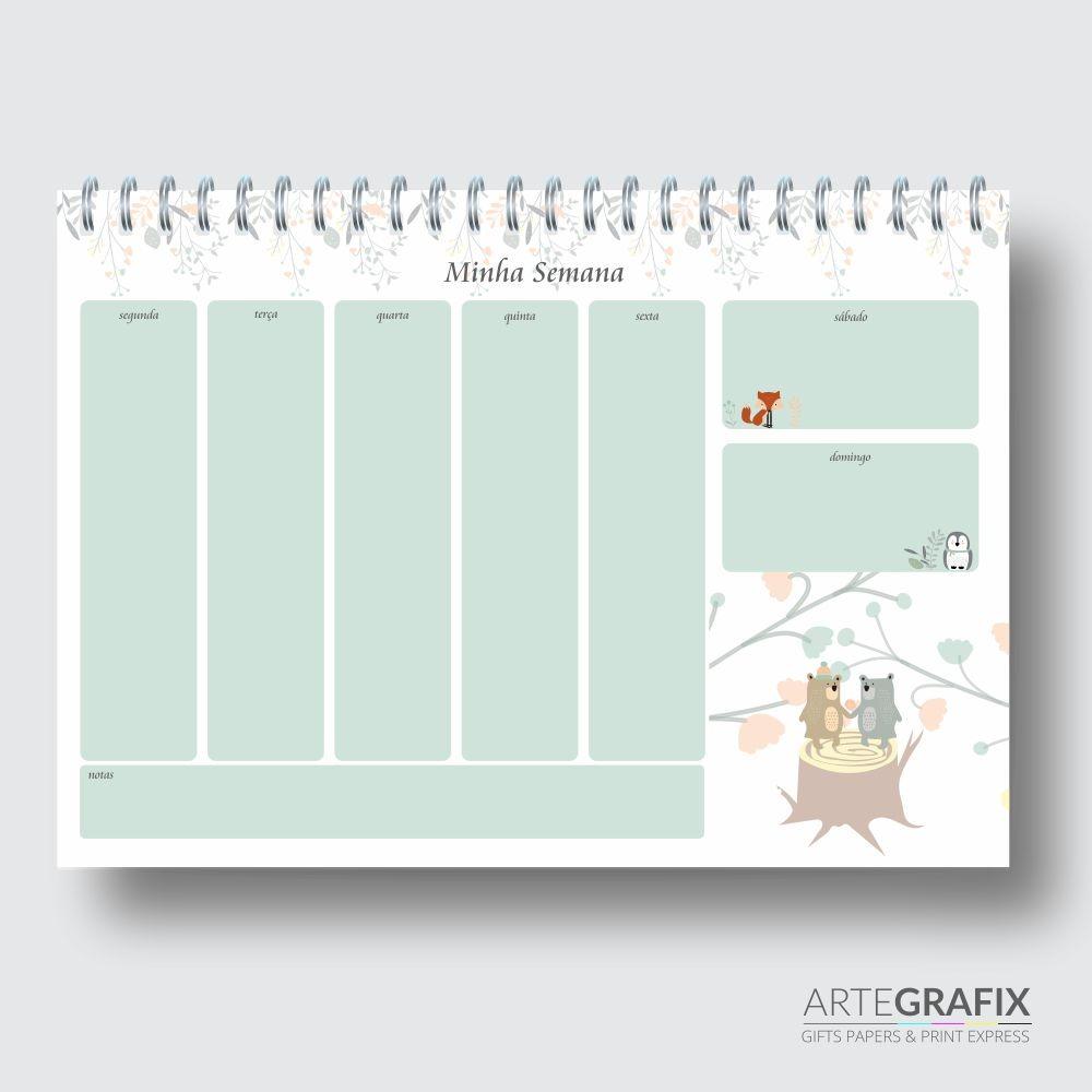 Planner Semanal Urso