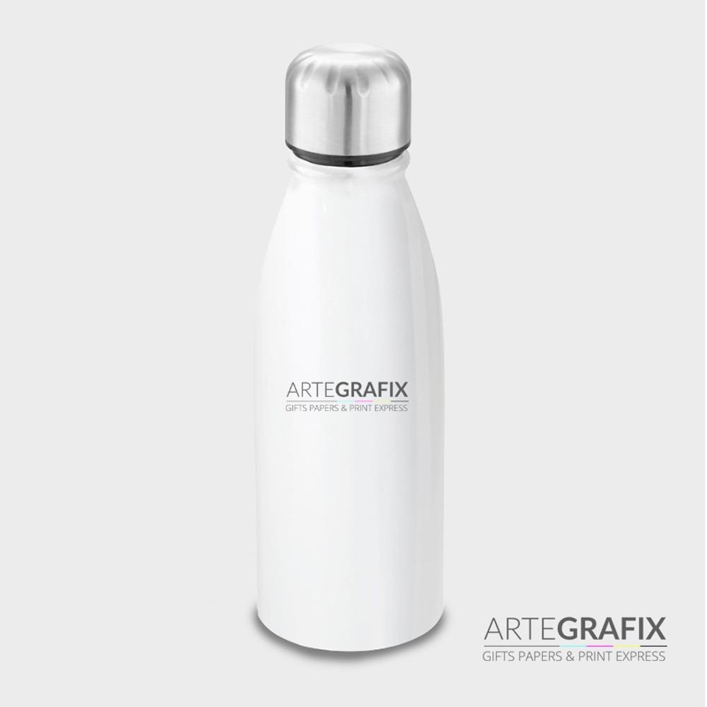 Squeeze Branca de Alumínio Personalizada - 500 ml