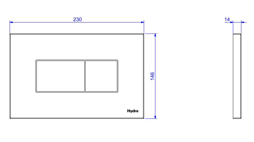 Acabamento Deca H Quadra Duo para Caixa de Descarga Embutida 4900.C.HQD.DUO Cromado  - Casa Mattos