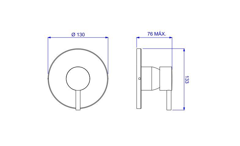 Acabamento Deca  Link  Monocomando de Chuveiro Para Alta e Baixa Pressão 4993.C.LNK.CHU Cromado  - Casa Mattos