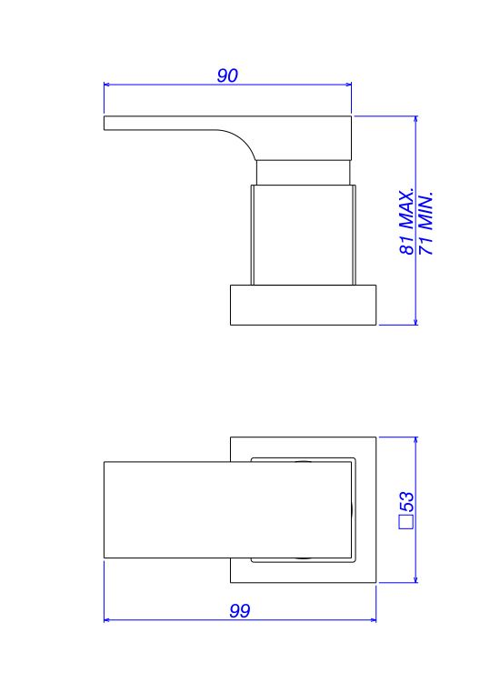 """Acabamento Deca Unic para Registro de Pressão 1/2"""" e 3/4"""" com Mecanismo 1/2 Volta 916.C90.PQ Cromado  - Casa Mattos"""