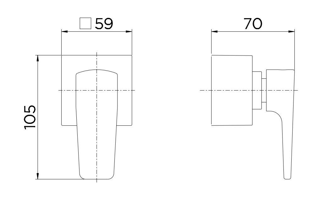 "Acabamento Docol para Registro Base Deca Lift 1/2"" 3/4"" 1"" 00811906 Cromado  - Casa Mattos"