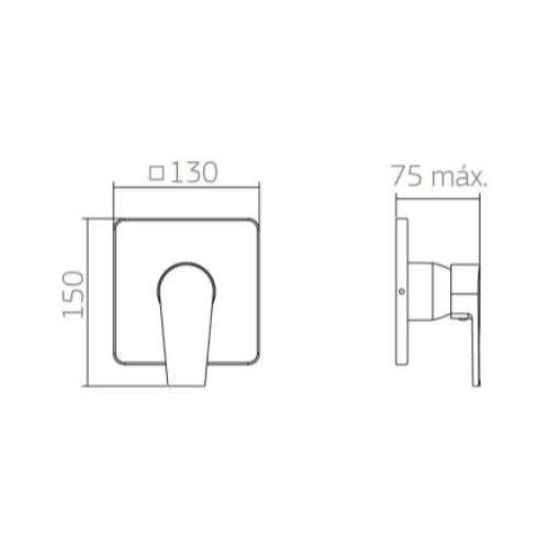 Acabamento Deca Level Monocomando 4993.C26.CHU Para Chuveiro De Baixa/Alta Pressão Cromado  - Casa Mattos