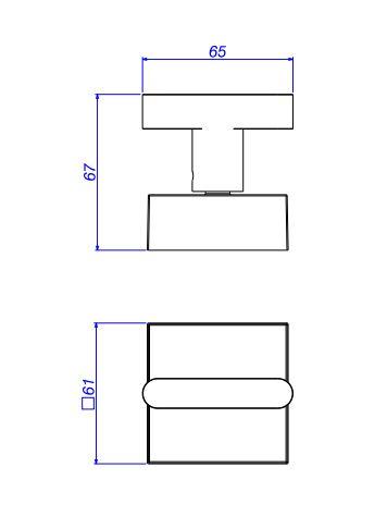 """Acabamento para Registro de Pressão Deca Soul 4916.BL38.PQ.NO 1/2"""" e 3/4"""" com Mecanismo 1/2 Volta  - Casa Mattos"""