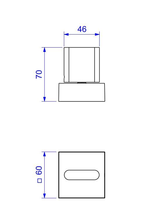 """Acabamento para Registro Deca Polo de Pressão 1/2"""" e 3/4"""" com 1/2 volta 4916.BL33.PQ.NO Black Noir  - Casa Mattos"""