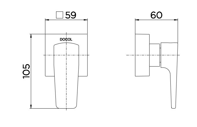 """Acabamento para Registro Docol Base 1/2"""", 3/4"""" a 1"""" Lift  - Casa Mattos"""
