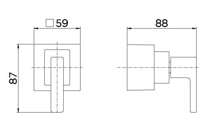 """Acabamento para Registro Docol Breezy 00731006 Base Deca 1/2"""", 3/4"""" e 1"""" Cromado  - Casa Mattos"""